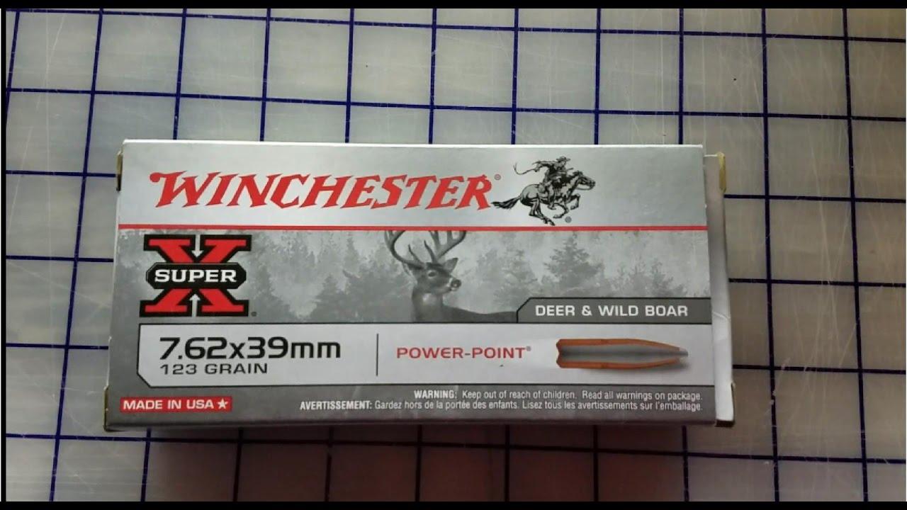 7.62x39 Winchester Power Point Gel Test