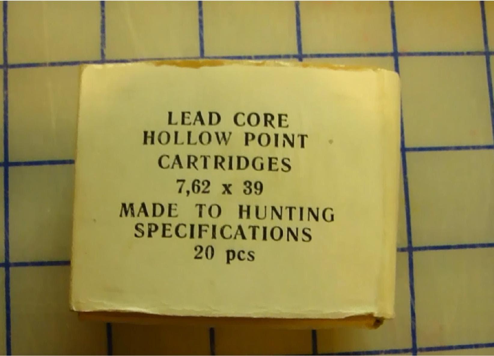 Russian Hunting Hollow Point 7.62x39mm Ballistic Gel Test