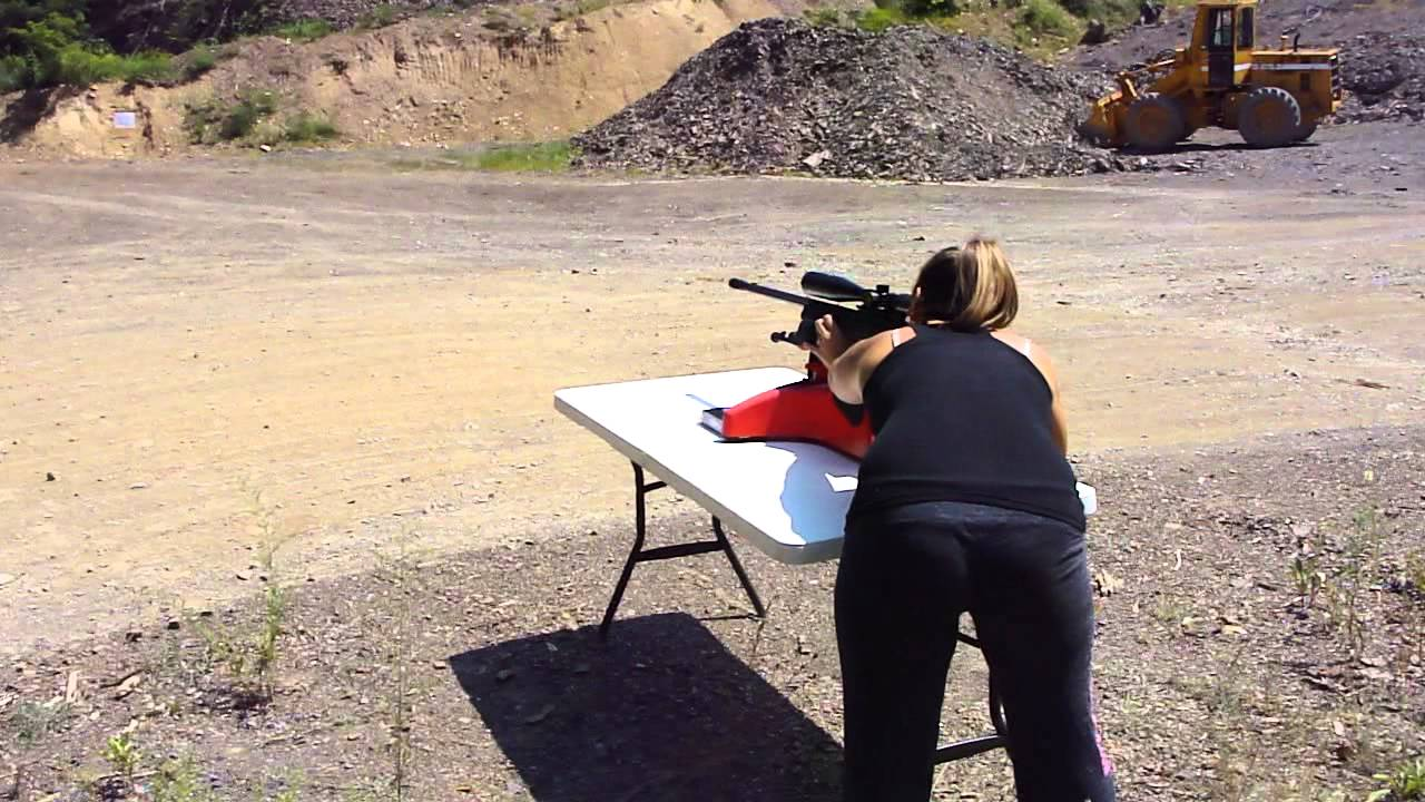 Girls First Time Shooting a Savage 110FCP .338 Lapua Magnum