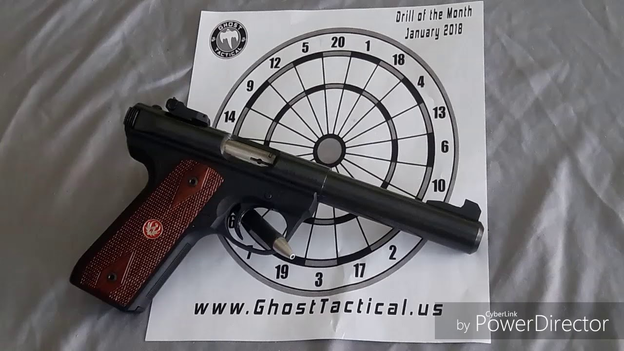 Ruger 22/45 Mark 3 Range day Ghost Tactical January 2018 drill, DARTS!