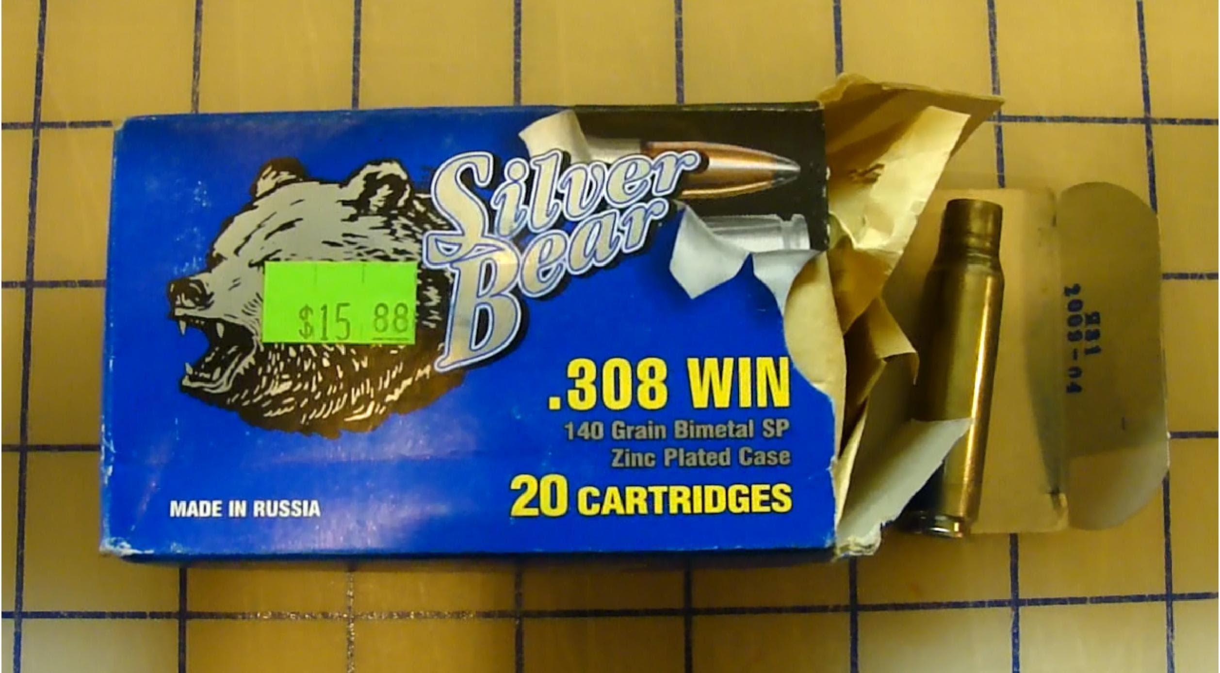 .308 Win Silver Bear 140 gr Soft Point Ballistic Gel Test