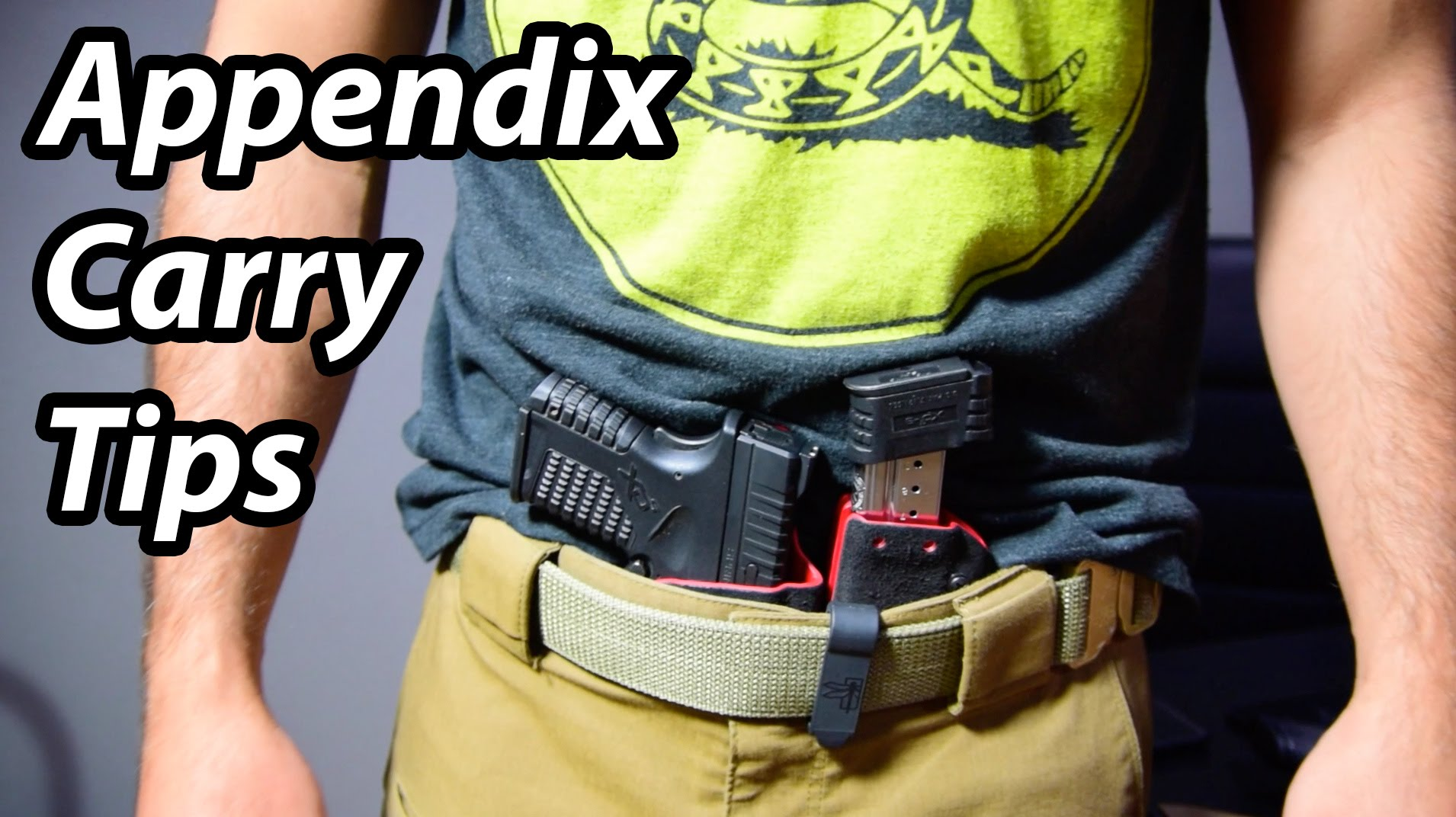 Appendix Carry Tips - Considerations for concealed carrying appendix iwb