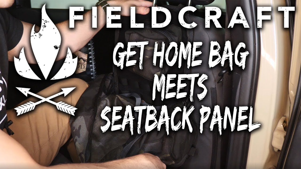 GO BAG meets Seat Back Panel - FIELDCRAFT SURVIVAL EDM Go-Lite pack panel - Bag that does it all?