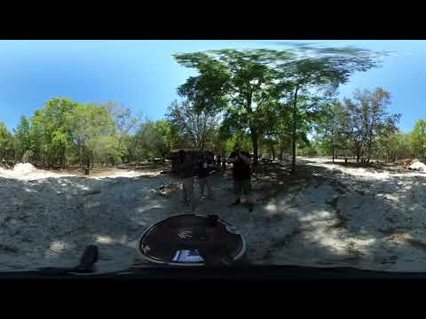 360° Video - Dual Machine Guns at the Strange Hacienda