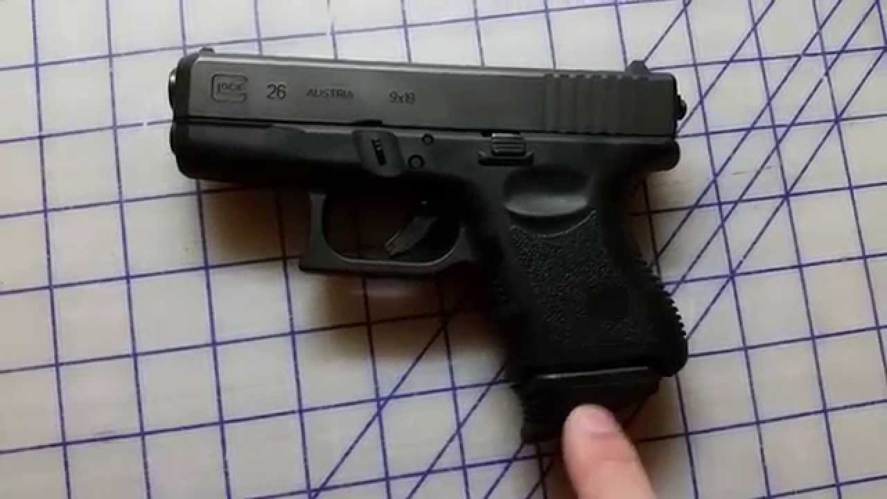 Glock 26 Review 9mm sub compact and Pierce Extensions