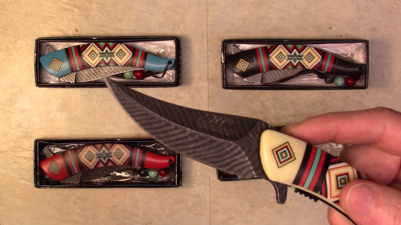 Masters Collection MC-A023 Spring Assist Folding Knife Native American Indian