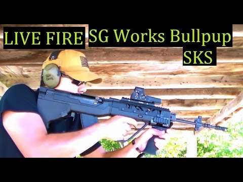 The SKS Bullpup Live Fire SG Works First time shooting a Bullpup style rifle 7.62x39 Yugo