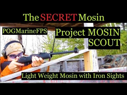 Project Scout Mosin - 91-30 With Iron Sights LIVE FIRE no scope