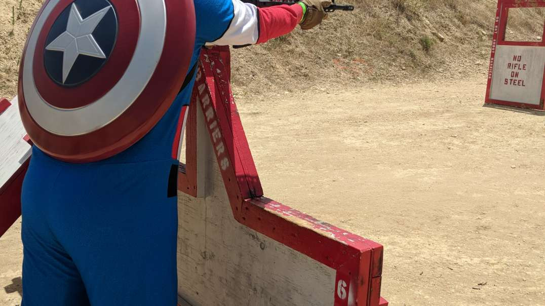 Captain America at the range 2