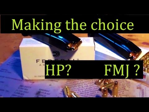 Conceal Carry HP or FMJ?  Why I use BOTH