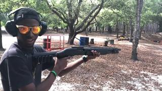 Rashad's First Time Shooting A Shotgun with ATI Outdoors
