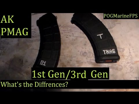 AK Magpul P Mag ~ Gen 1 VS Gen 3 Comparision