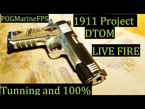 Return of Project DTOM 1911 LIVE FIRE Tuning & Fixed Extraction Problem