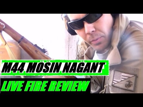 Soviet Russian Mosin Nagant M44 Bolt Action Rifle World War II 7.62x54 LIVE FIRE Review