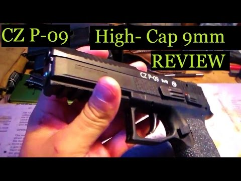 CZ P 09 9mm 19+1 Duty Handgun w/ Safety Table-top Review