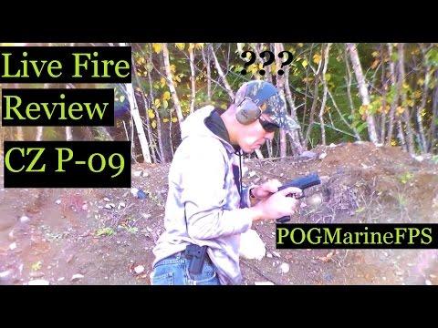 CZ P 09 9mm Handgun 19+1 Live Fire Review
