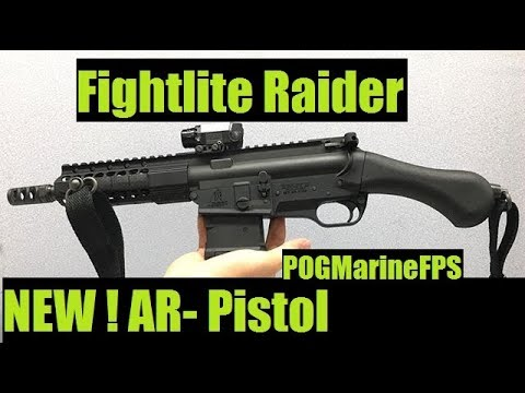 The SHOCKING NEW AR15 Fightlite Raider Pistol Smallest 2017 LIVE FIRE !