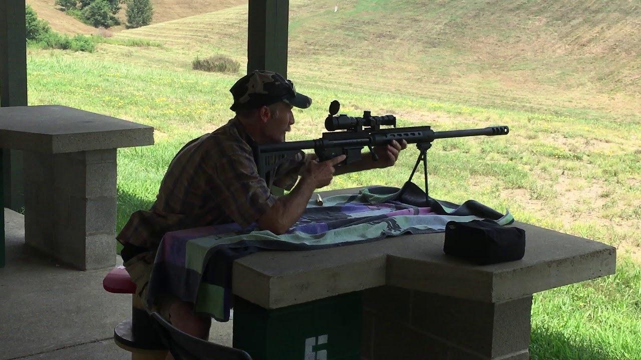 Armament & Axes Chris shooting the Safety Harbor Firearms 50 Cal @ Thunder Valley Precision Rifle Ra
