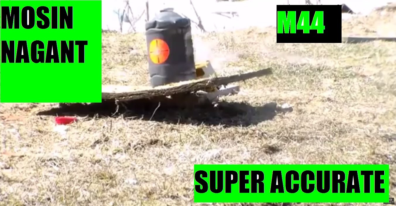 Ultimate EXTREME ACCURACY  M44 Mosin Nagant bolt action  at 75Yds SLOW -MO Bullseye