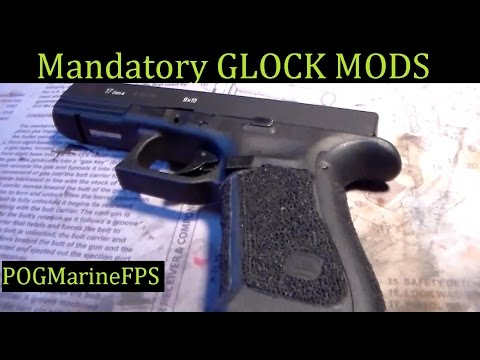 Glock Mods Mandatory Modifications Needed for a Glock Handgun to shoot more accurate & comfortably