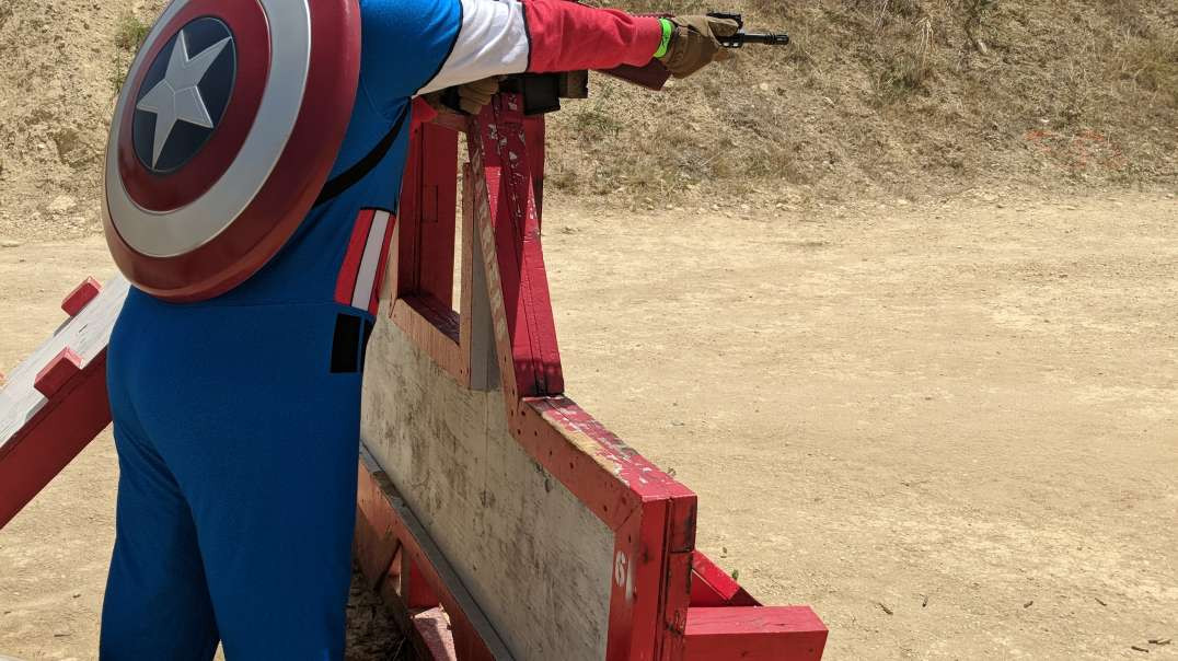 Captain America at the range 1