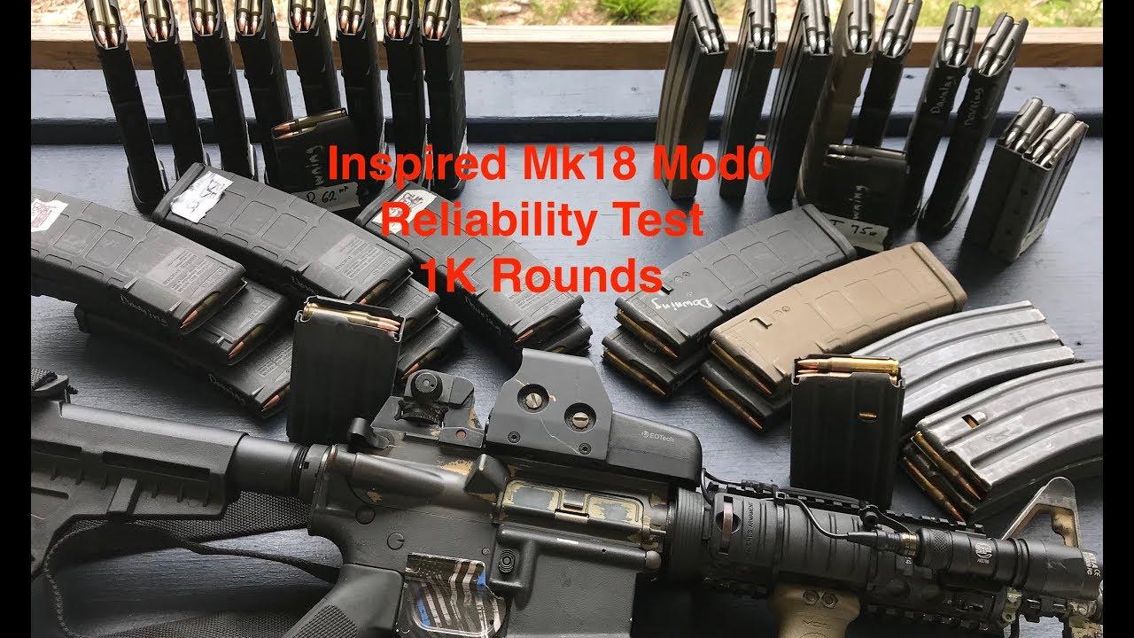 1K Round Reliability Test, Inspired Mk18 Mod0