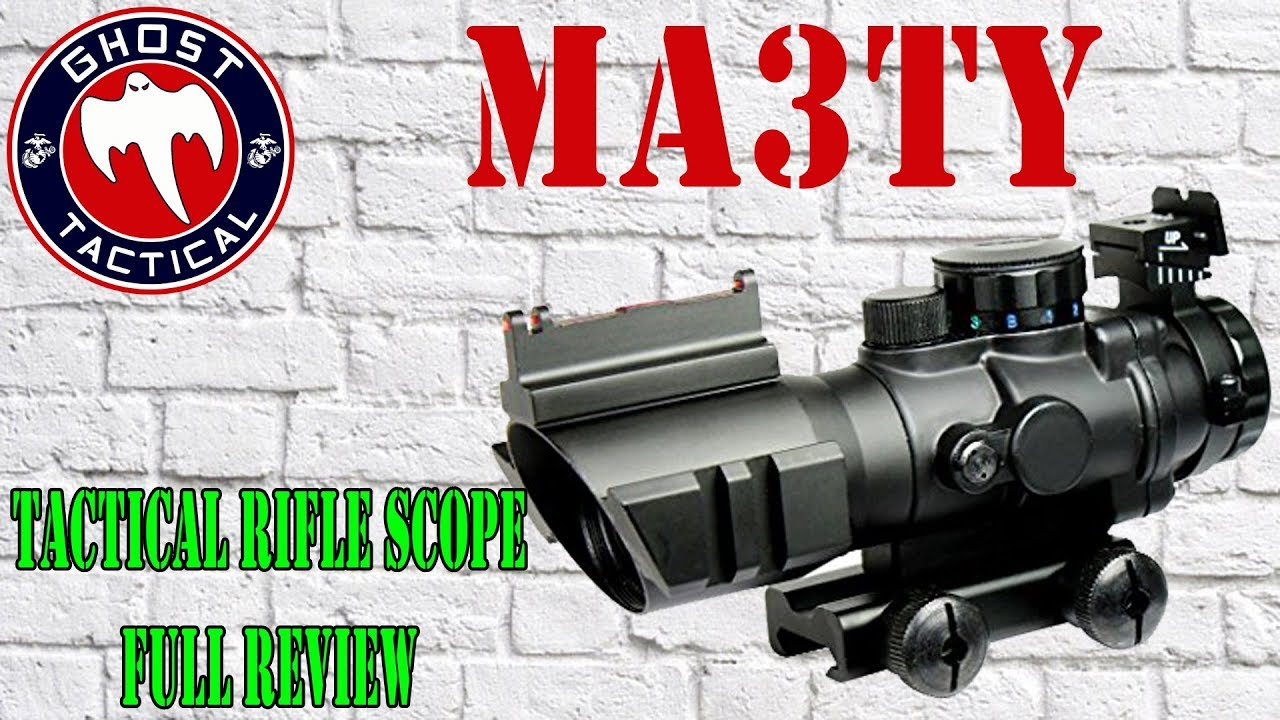 $45  4x32 Rifle Scope:  MA3TY Tactical Rifle Scope:  You Won't Believe This