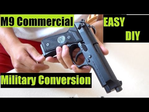 M9 Commercial Convert to Mil- Spec Service Pistol DIY Easy Step by Step