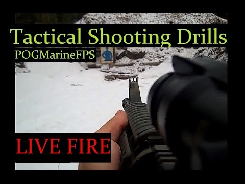 Shooting Drills - Military M4 ACOG Optic - Training & Staying Sharp Marine Corps Tactical LIVE FIRE