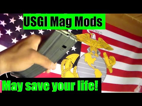 USGI Magpul corps Mag modifications for Reliable feeding. USGI Almost as good as a PMag?