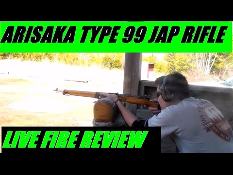 Japanese Arisaka Type 99 World War II Bolt Action Rifle 7.7x58 LIVE FIRE Review