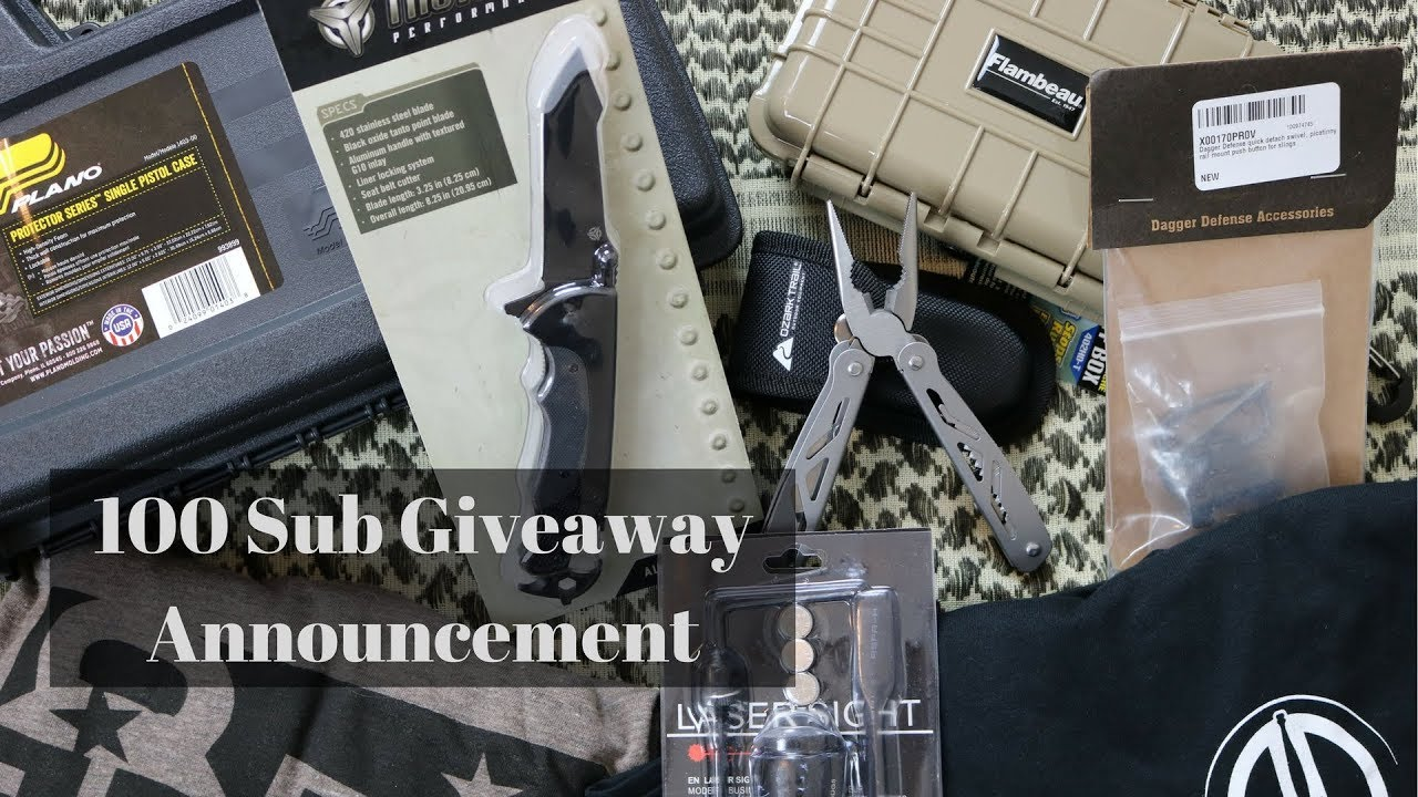 100 Subscriber Labor Day Giveaway Annoucenment!!!