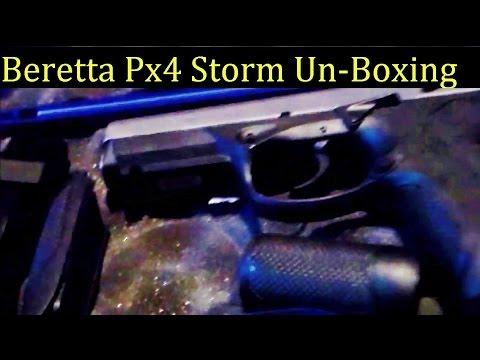 PX4 Storm Beretta 9mm inox stainless Handgun UnBoxing Full Size