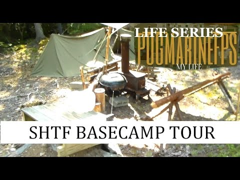 BUGOUT Camp Tour For Real SHTF Living in the Woods of Maine  Life Series