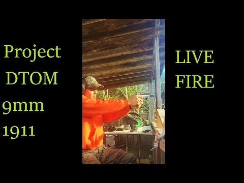 Project DTOM 1911 9mm handgun Live Fire PROBLEMS  any Ideas?