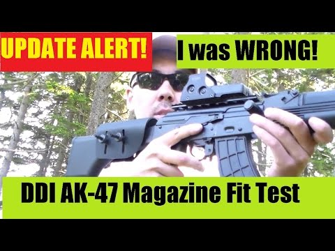 I Was WRONG about U S  Palms Mags and the DDI AK47 MAG Fit Test