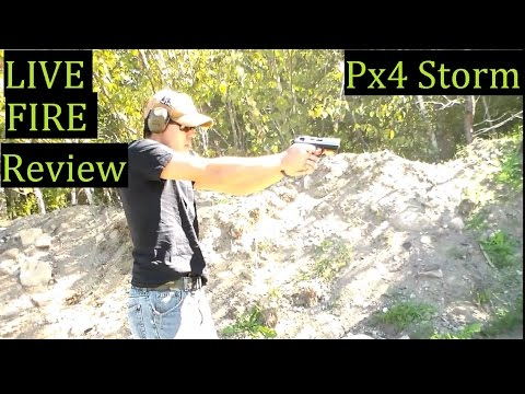 PX4 Beretta Storm 9mm Full size Inox Live Fire pistol review