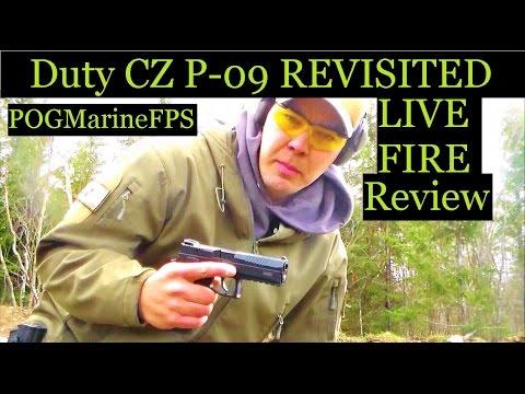 CZ P 09 Pistol Revisted Reliabilty - LIVE FIRE - Review 9mm handgun