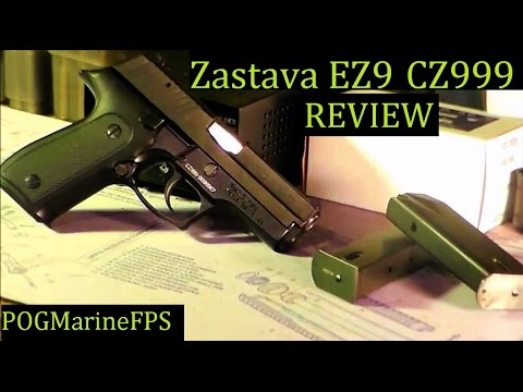 Zastava EZ 9 aka CZ999 9mm semi auto pistol Review- JSD Arms