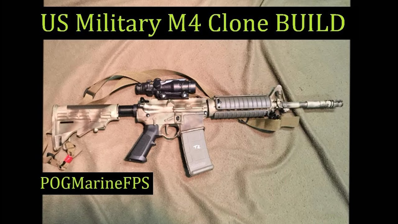 Build a Military M4 Carbine PARTS LIST & without SBR TAX STAMP POGMarineFPS