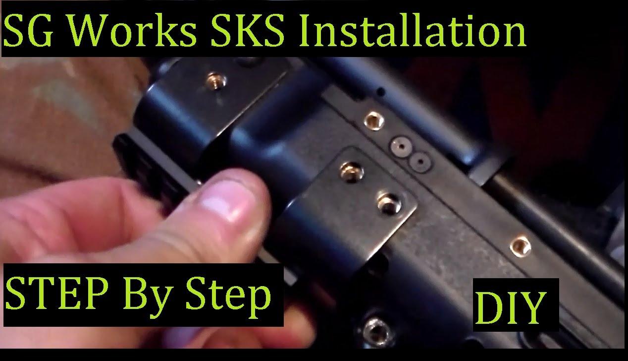 Install SG Works Bullpup SKS Stock DIY BETTER & EASY Directions