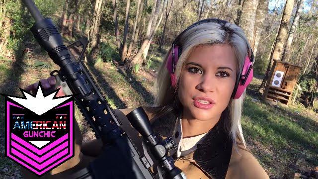 Making Rainbows with a AR15!!!  Girls 1st time Shooting Ar15 & AK47!!  American Gun Chic #9