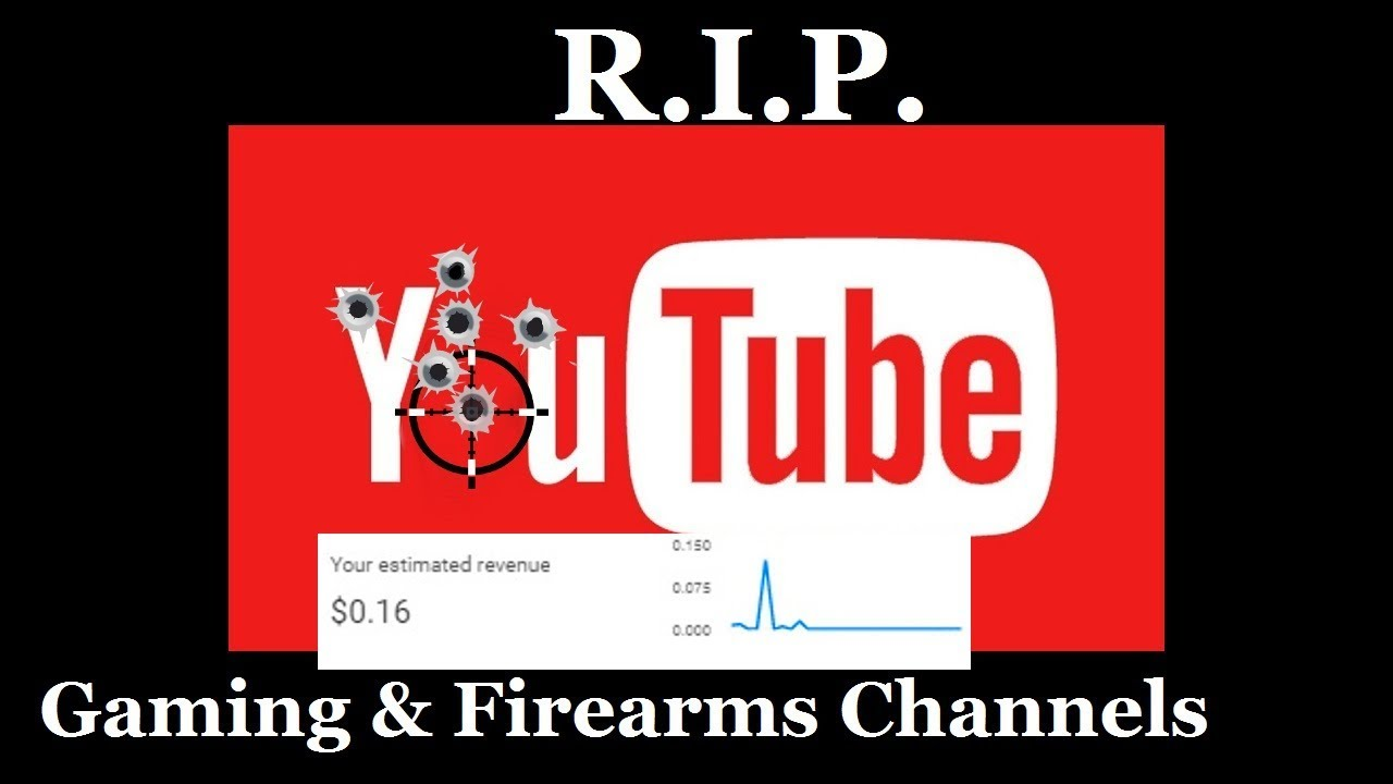 NEED your HELP! YouTube Kills GAMING & FIREARMS Channels!  Flat-lined