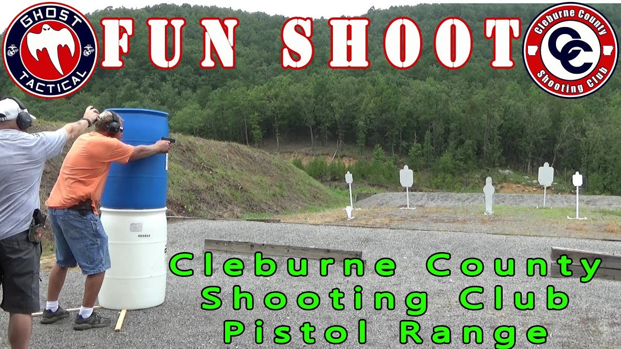 Range Day With Ghost:  Fun Shoot With Steel and Moving Targets:  Cleburne County Shooting Club