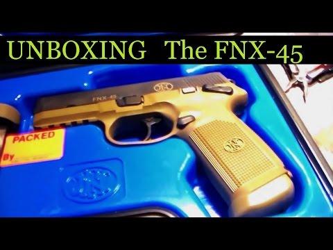 FNH FNX 45 Unboxing High cap 45 ACP 15 +1 handgun