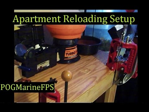 Apartment Reloading Setup - Progressive & Single Press ~ My Roomates Setup ~