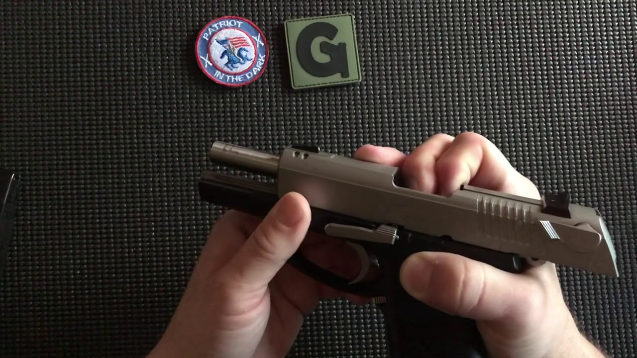 Ruger P95DC Field Strip while Totally Blind