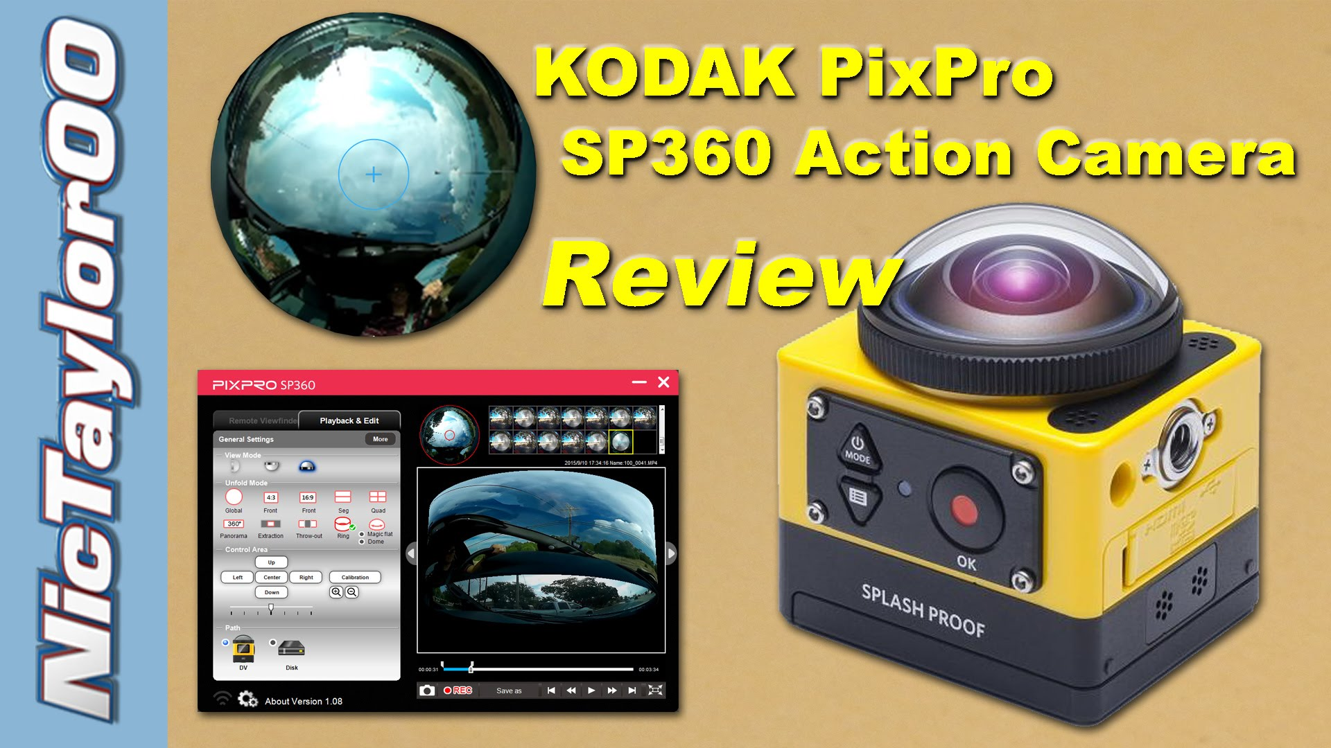 Kodak PIXPRO SP360 Action Camera Review & Sample Footage