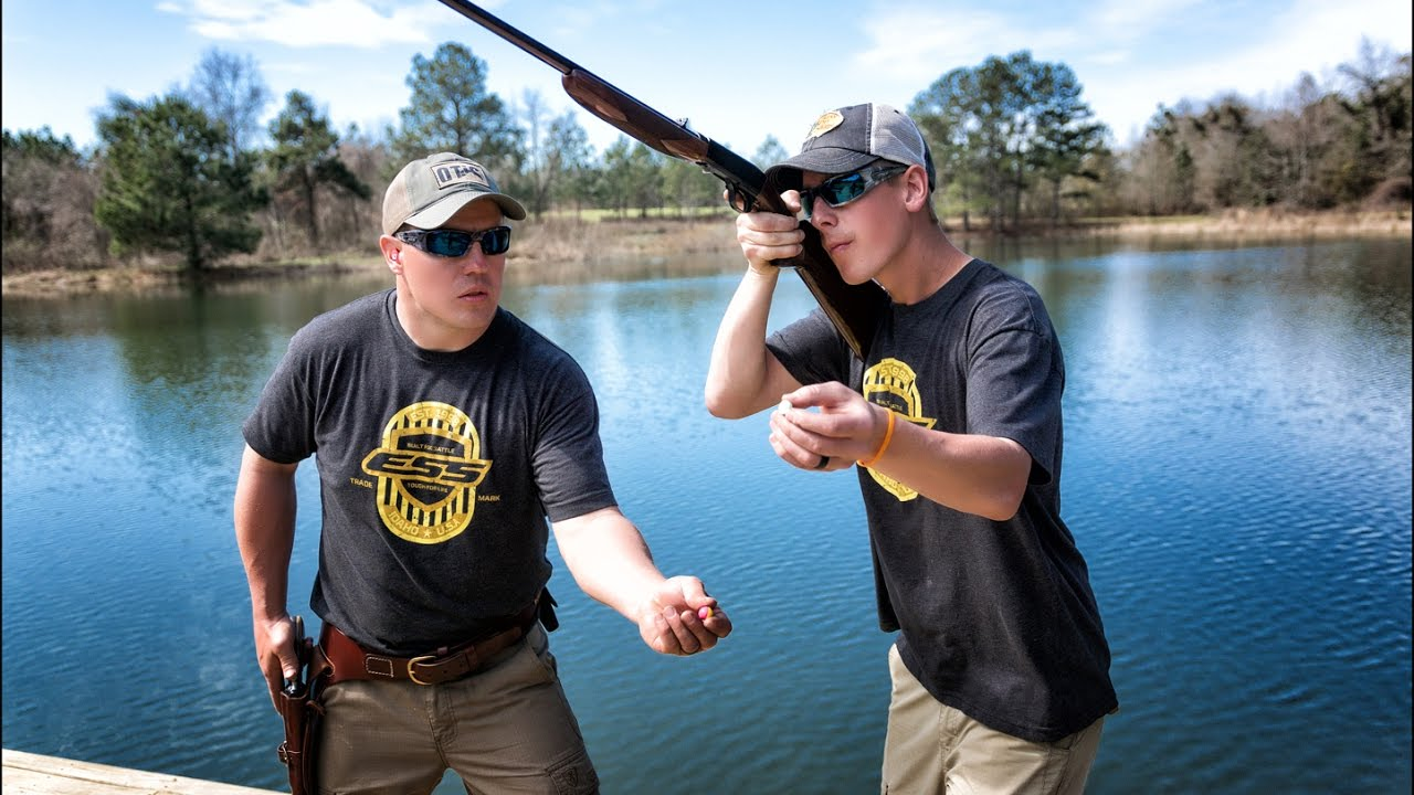 Tiny Target Trick Shots with Rifles, Pistols and Shotguns | Gould Brothers