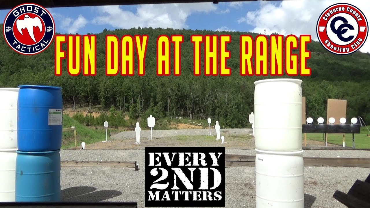 Fun Day at the Cleburne County Shooting Club:  Shooting Steel and Moving Targets:  Every 2nd Matters